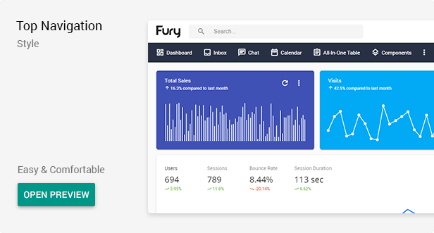 top - Fury - Angular 10+ Material Design Admin Template